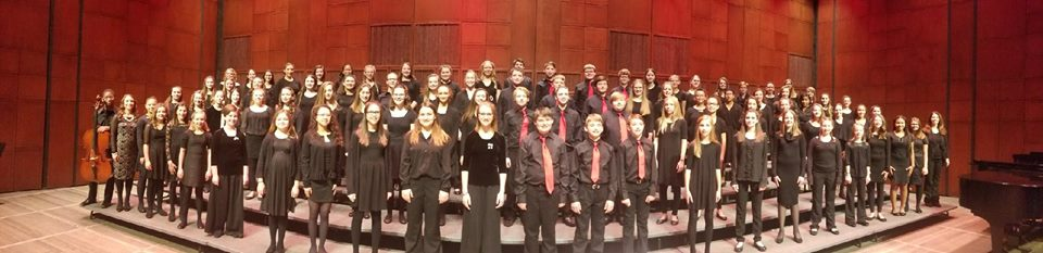Bridgetown students dressed in all black for choir performance