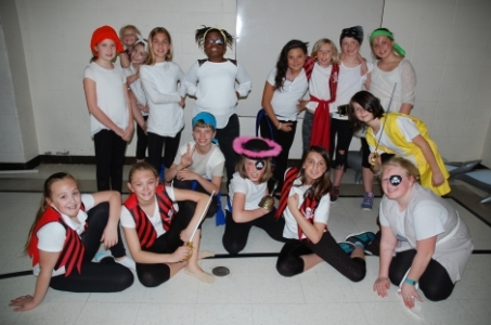 Cast members of Pirates musical at Delshire