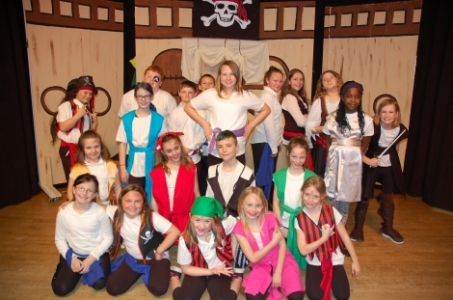 Cast members of the musical Pirates at Delshire