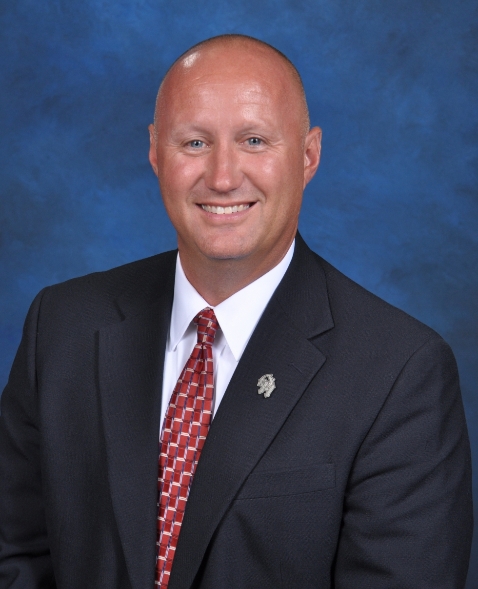 Photo of principal Travis Hunt